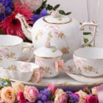 Eden Pink Tea Set for 2 Ribbon and Butterfly