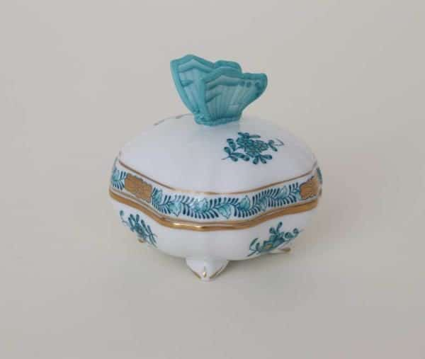 Bonbonniere Chinese Bouquet Apponyi Turquoise 06179-0-17 ATQ