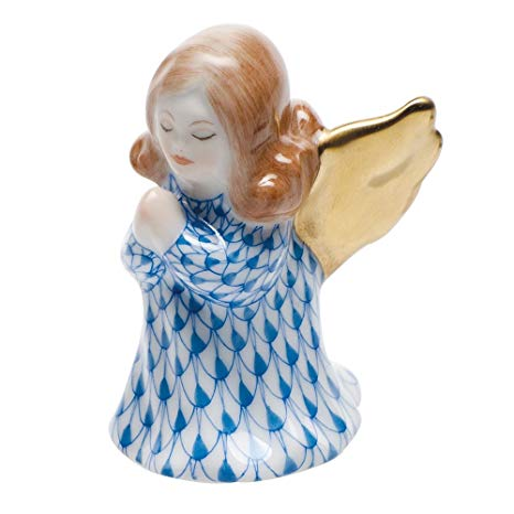 Small Praying Angel Figurine - Fishnet Purple Small Herend figurine perfect as a Christmas gift or a new piece in your Herend collection.