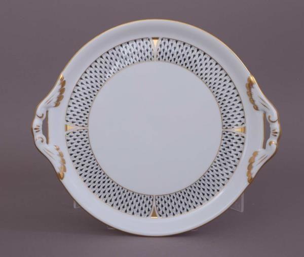 02315-0-00 VHNKN Cake Plate Art Deco Black