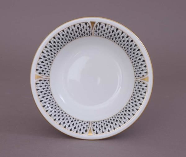 02330-0-00 VHNKN Herend Cereal Bowl Art Deco Black
