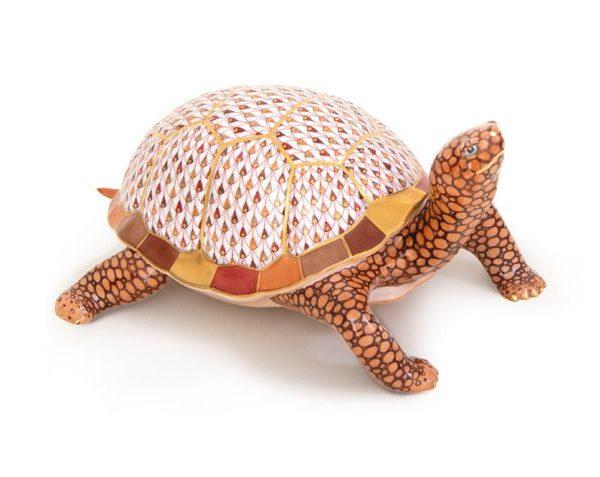 Herend Eastern Box Turtle Reserve Figurine