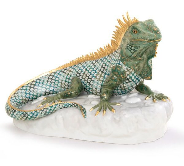Herend Iguana Figurine Limited Edition