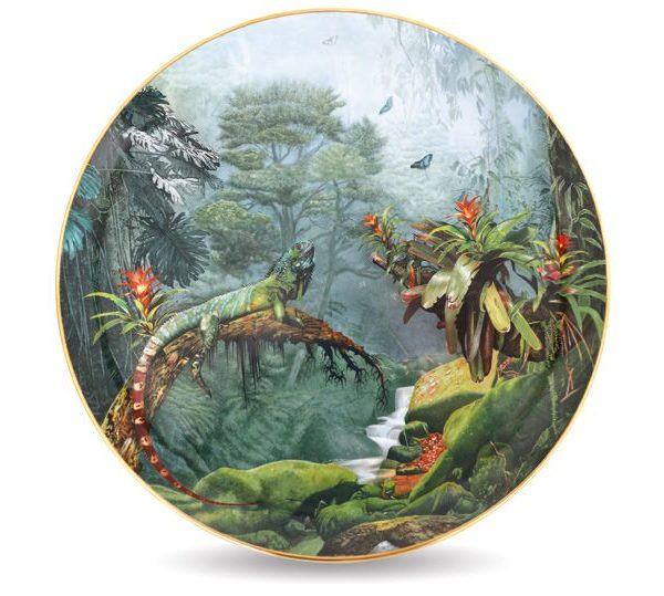 Herend Iguana Wall Plate Limited Edition