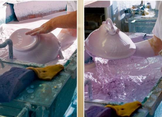 Porcelain Glazing at Herend Porcelain manufactory