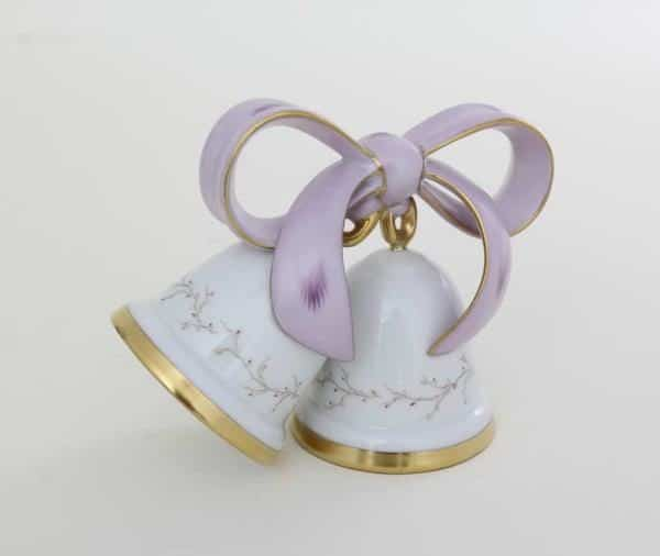 Wedding Bells - Eden Butterfly Make your special day unforgettable with this hand-painted wedding bell figurine and ribbons. This Wedding Bell is hand-painted with EDEN butterfly purple decor which is a very elegant and pretty motif.