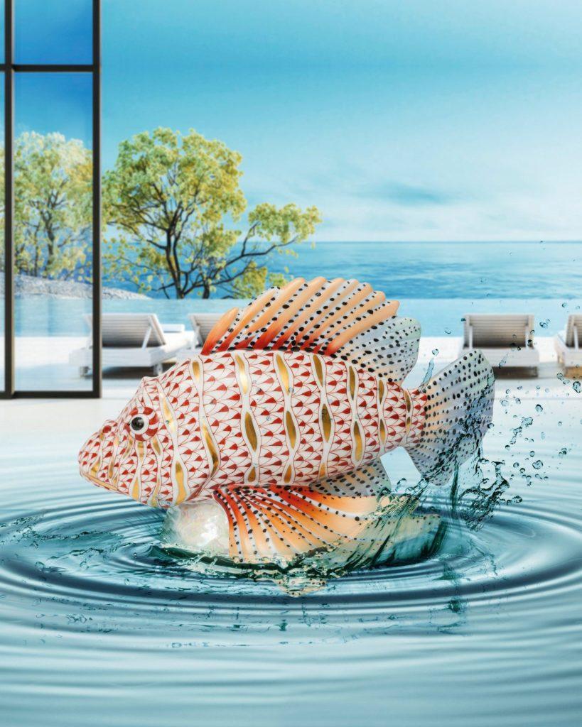 Herend-Fish-Sea-Life-Animal-Figurine