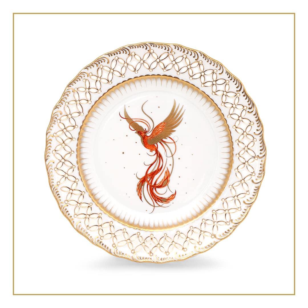 Herend-Porcelain-Wallplate-Open-Work