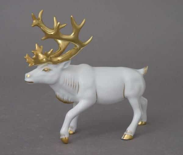Herend-Reindeer-White-Gold-15659