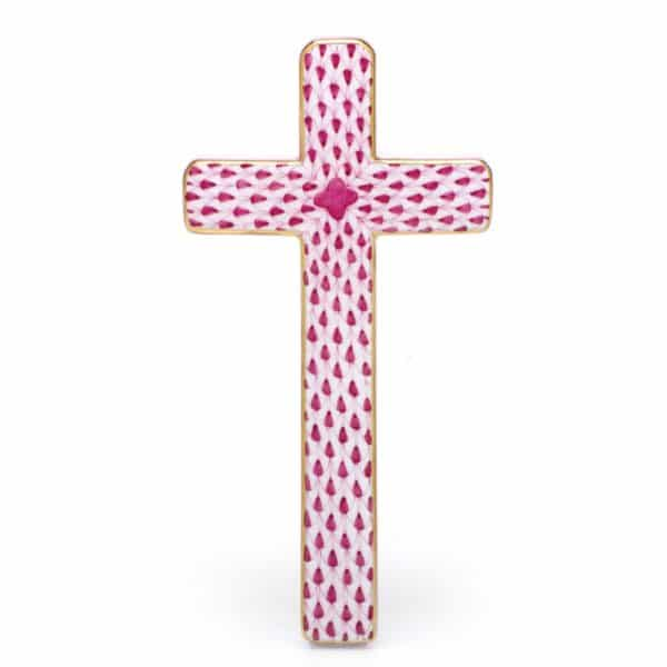 herend+cross,+raspberry