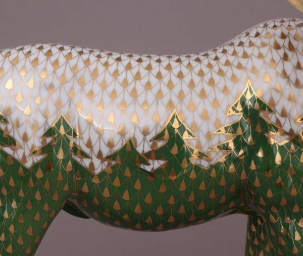 16117-0-00 VHSP163-Herend-Moose-Figurine-Chirstmas