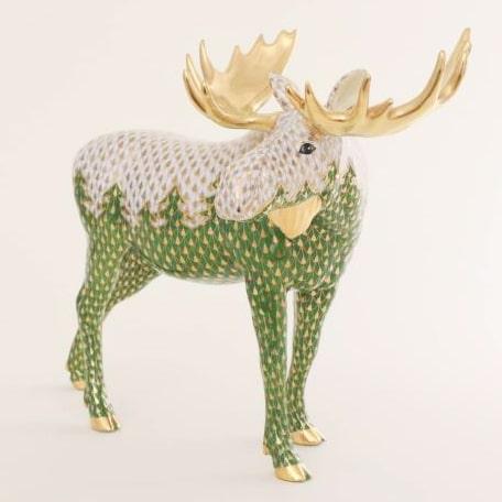Herend-Moose-Figurine-Chirstmas