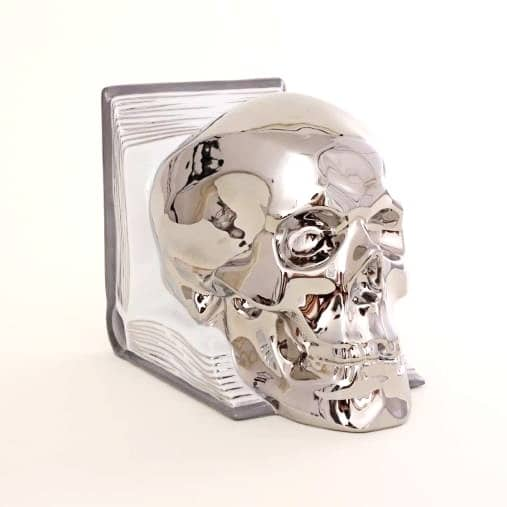 Herend-Skull-Bookend