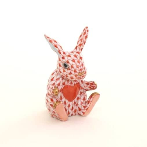Herend Sweetheart Bunny Perfect gift for your loved ones. Small Herend Fishnet figurines with Heart on the Bunny's tummy.