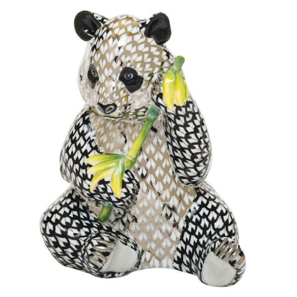 Herend-Panda-Bear-Platinum-Black-Limited