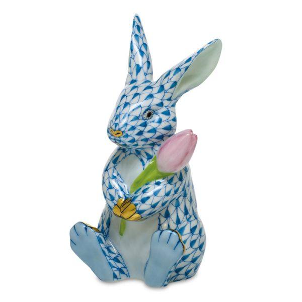 herend+blossom+bunny,+blue