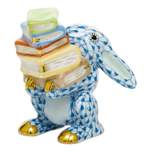 herend+scholarly+bunny,+blue
