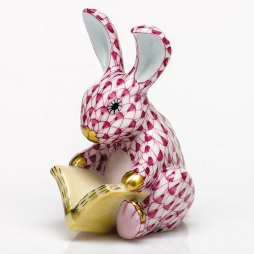 herend+storybook+bunny,+raspberry