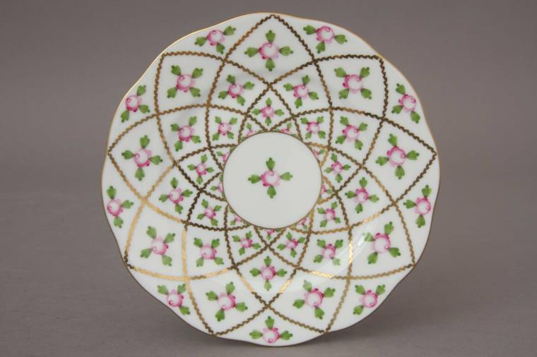 Herend-Sevres-Roses-Dinnerware-Bread-and-butter-Plate