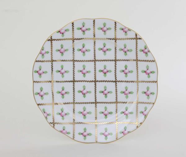 Herend-Sevres-Roses-Dinnerware-Dessert-Plate