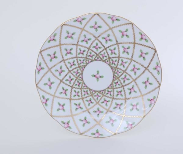 "Herend Sevres Roses Salad Plate 9"" Diameter: 23 cm Hand-painted in Hungary at Herend Porcelain Manufactory. Shipping time 6-12 week"