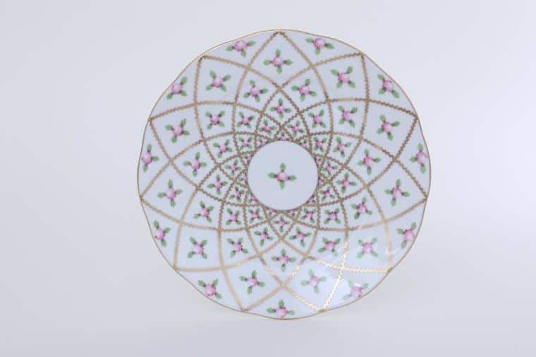 """Herend Sevres Roses Salad Plate 9"""" Diameter: 23 cm Hand-painted in Hungary at Herend Porcelain Manufactory. Shipping time 6-12 week"""