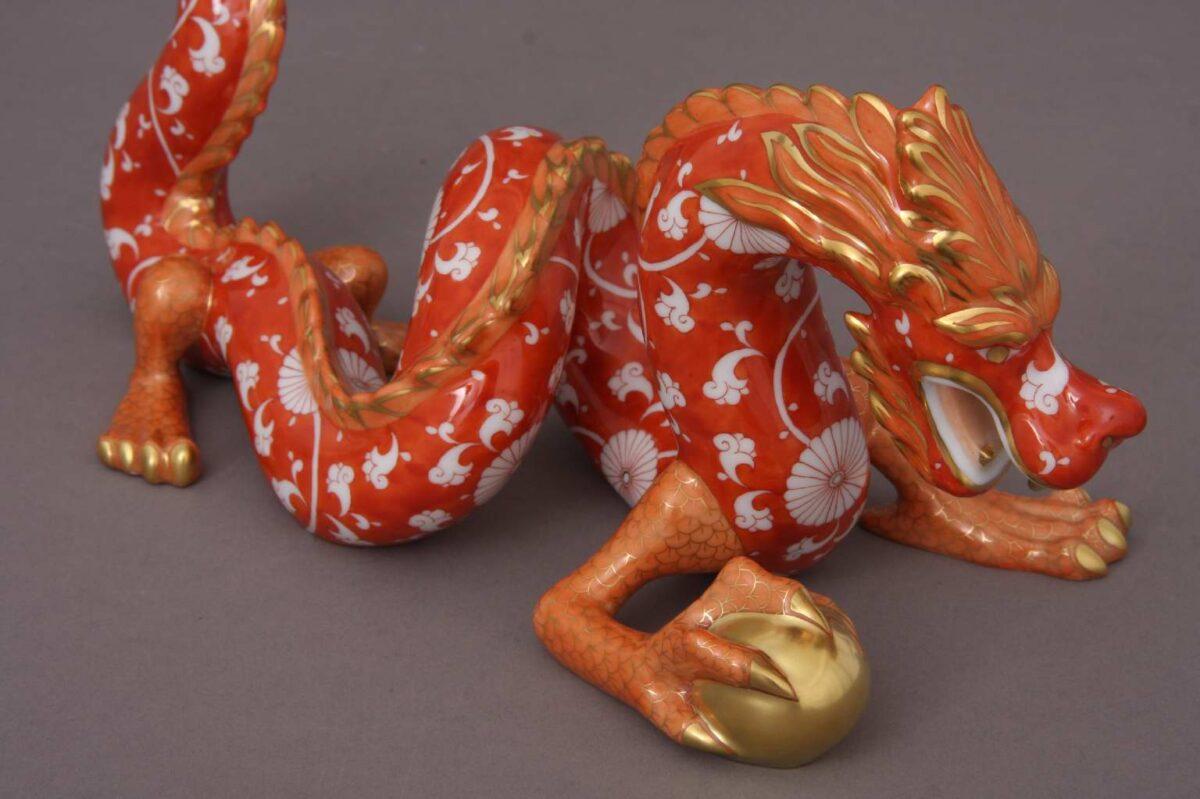 Herend-Large-Dragon-Figurine-CHRY-Orange-15601-1