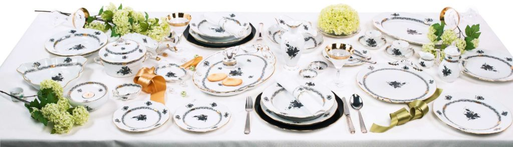 Herend+Chinese+Bouquet+Green+Apponyi+Dinnerware-Canada