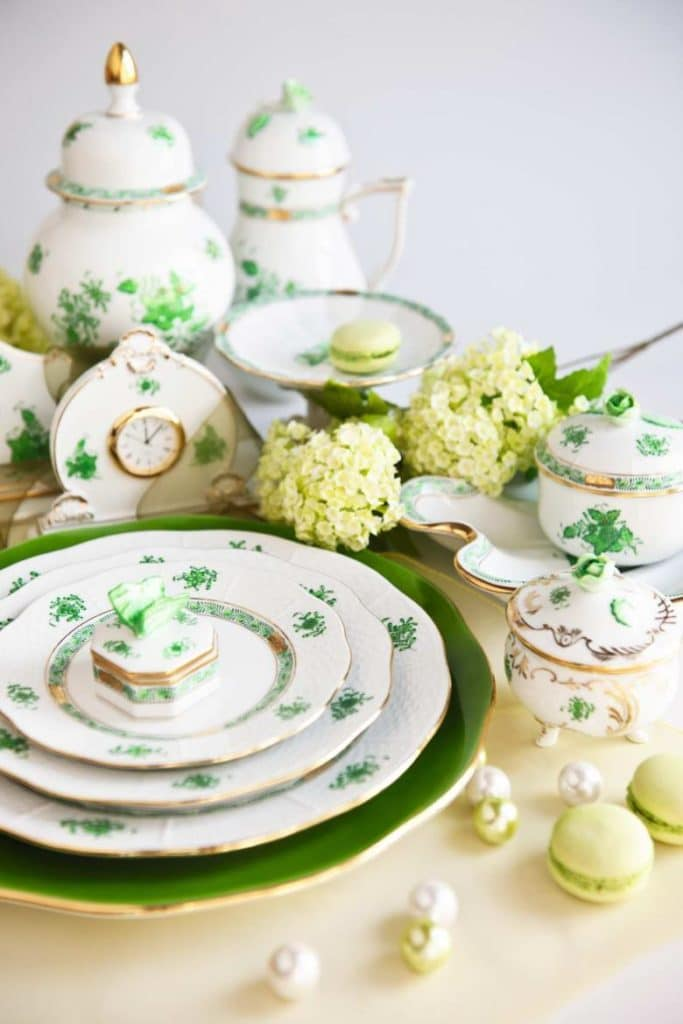 Herend+Chinese+Bouquet+Green+Apponyi+Dinnerware