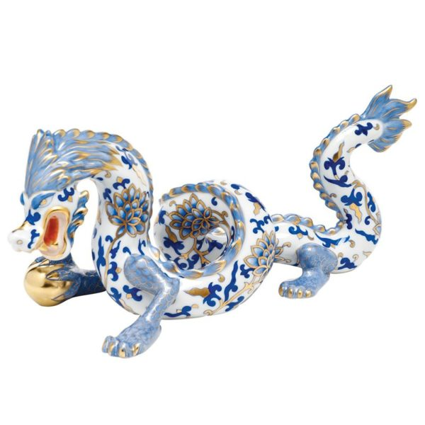 Herend Large Dragon Figurine- Blue Ming DynastyLimited to 100 pcs. Herend Large Dragon hand-painted with the world-famous blue Ming Dynasty Decor. Limited to 100 pcs. Comes with a gift package and certificate of origin and limitation.